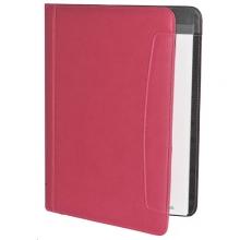 , Schrijfmap Rillstab Messina A4 lederlook roze
