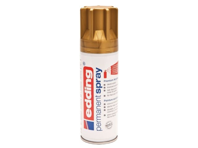 ,Verfspuitbus edding 5200 permanent spray mat rijkgoud