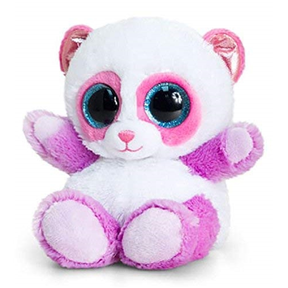,Animotsu gekleurde panda  - knuffel - 15 cm