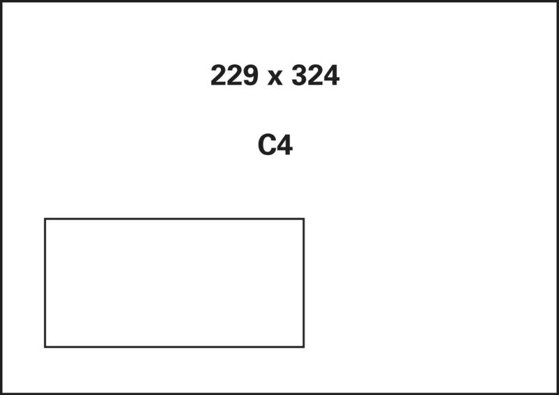 ,akte envelop met venster Raadhuis 229x324mm C4 wit gegomd   doos a 250 stuks