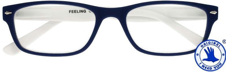 ,Leesbril X +2.00 Feeling Blauw-Wit