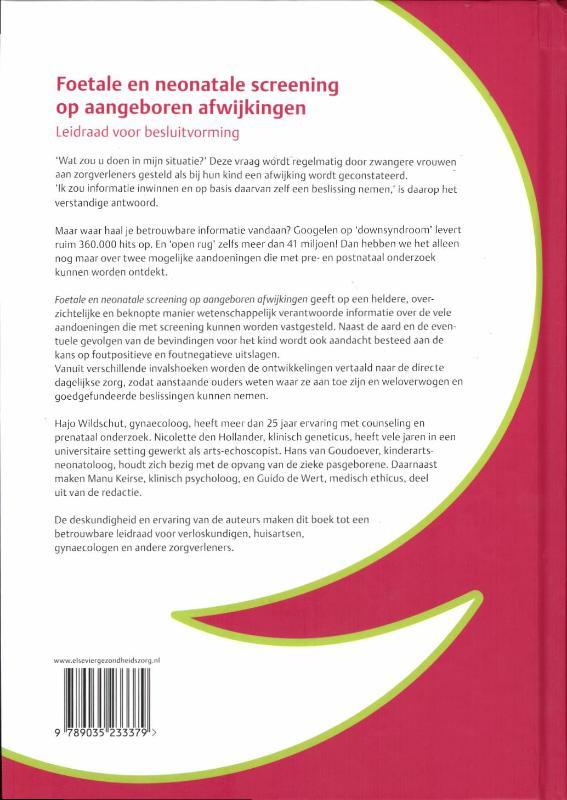 H.I.J. Wildschut,Foetale en neonatale screening op aangeboren afwijkingen