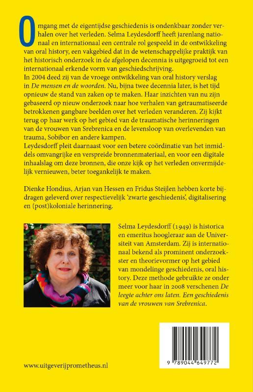 Selma Leydesdorff,Oral history