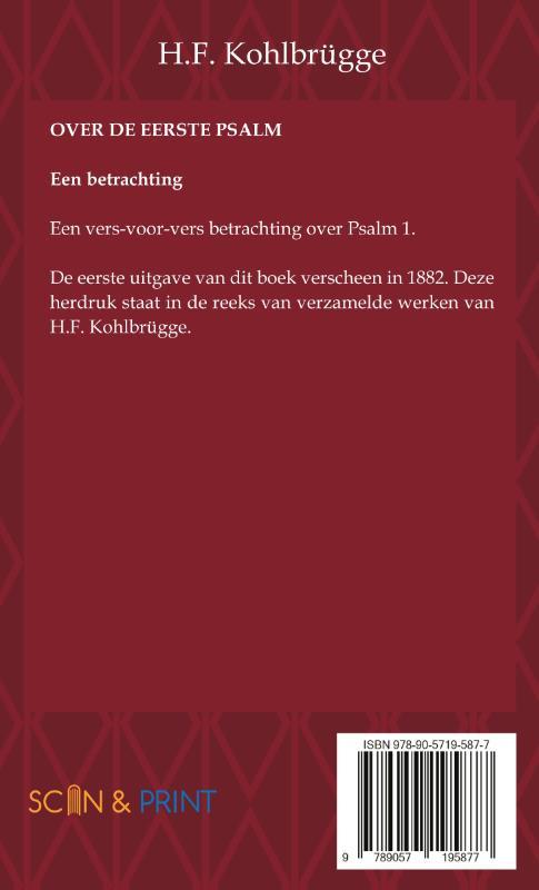 H.F. Kohlbrügge,Over de eerste Psalm