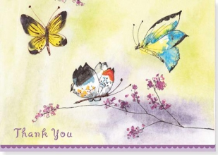 Butterfly Garden Thank You Notes