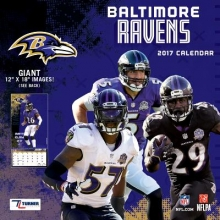 Cal 2017 Baltimore Ravens 2017 12x12 Team Wall Calendar