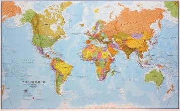 , World political flat laminated ENG 1/20M