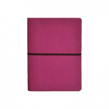 Ciak Lined Pink Leather Notebook
