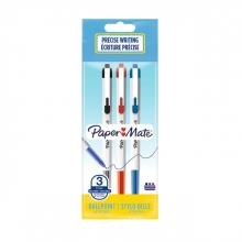 , Balpen Paper Mate Entry Line 046 0.7mm blister à 3 stuks assorti