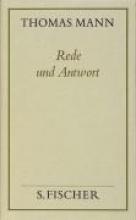 Mann, Thomas Rede und Antwort ( Frankfurter Ausgabe)