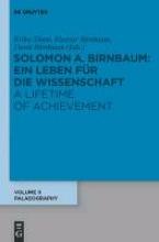 Salomo a Birnbaum Pal ographie Palaeography