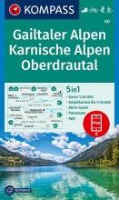 KOMPASS-Karten GmbH , KOMPASS Wanderkarte Gailtaler Alpen, Karnische Alpen, Oberdrautal 1:50 000