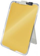 , Glas Desktop Flipover Leitz Cosy geel