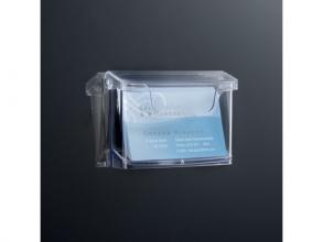 , buitenvisitekaarthouder Sigel wandmodel 105x76x45mm         transparant acryl
