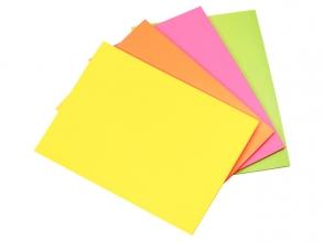 , Info communicatiekaarten, 200x150mm, 4 x 50 stuks, geel,    oranje, roze, groen