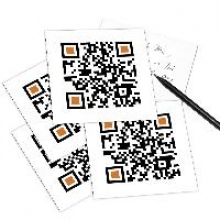 5er Set QR Code-Postkarte - mit Smartphone einscannen und Grußbotschaft erhalten: THANK YOU.