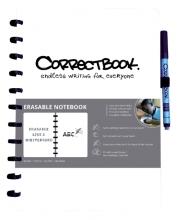 Notitieboek Correctbook uitwisbaar en herbruikbaar A4 wit blanco 40blz