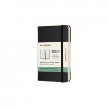 , Moleskine 18 MND Agenda - 2020/21 - Wekelijks Horizontaal - Pocket (9x14 cm) - Zwart - Harde Kaft