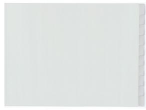 , tabblad Kangaro A3 venster PP 120mµ grijs 4-gaats 10-delig  dwars EB