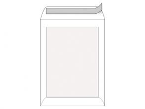 , bordrugenvelop Raadhuis 262x371mm EB4 wit met plakstrip     doos a 100 stuks