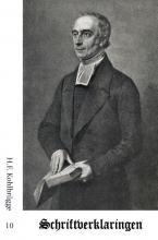 H.F. Kohlbrügge , Schriftverklaringen 10