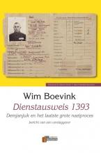Wim  Boevink Verbum Holocaust Bibliotheek Dienstausweis 1393
