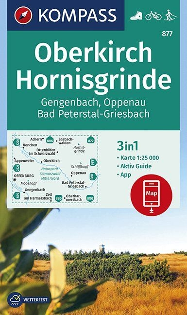,Oberkirch, Hornisgrinde, Gengenbach, Oppenau, Bad Peterstal-Griesbach 1:25 000