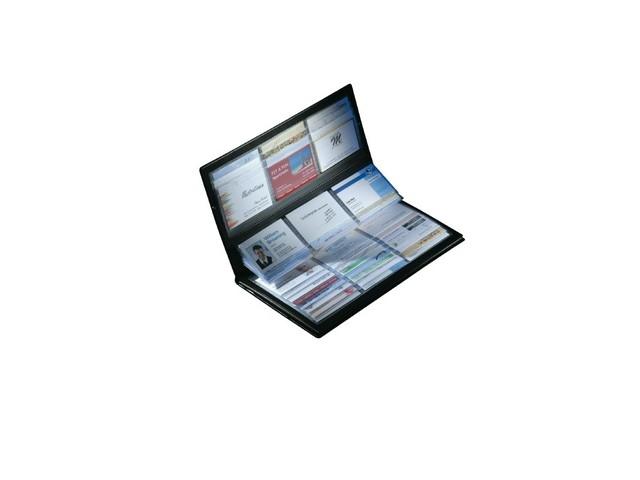 ,visitekaartmap Sigel kunstleer zwart voor 288 kaarten