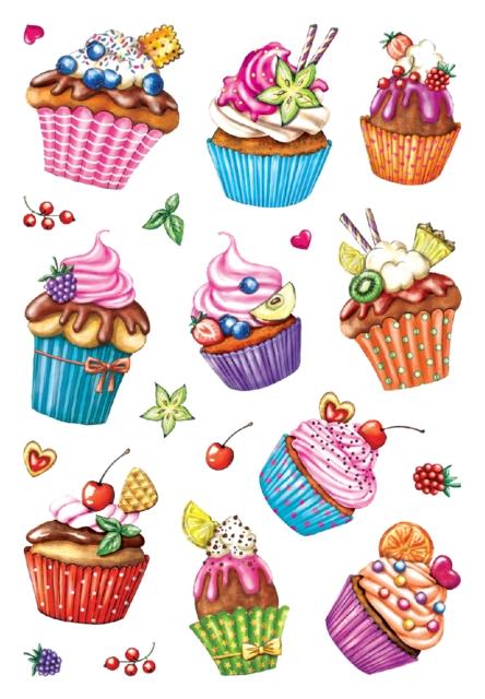 ,Etiket Herma cupcakjes glitter