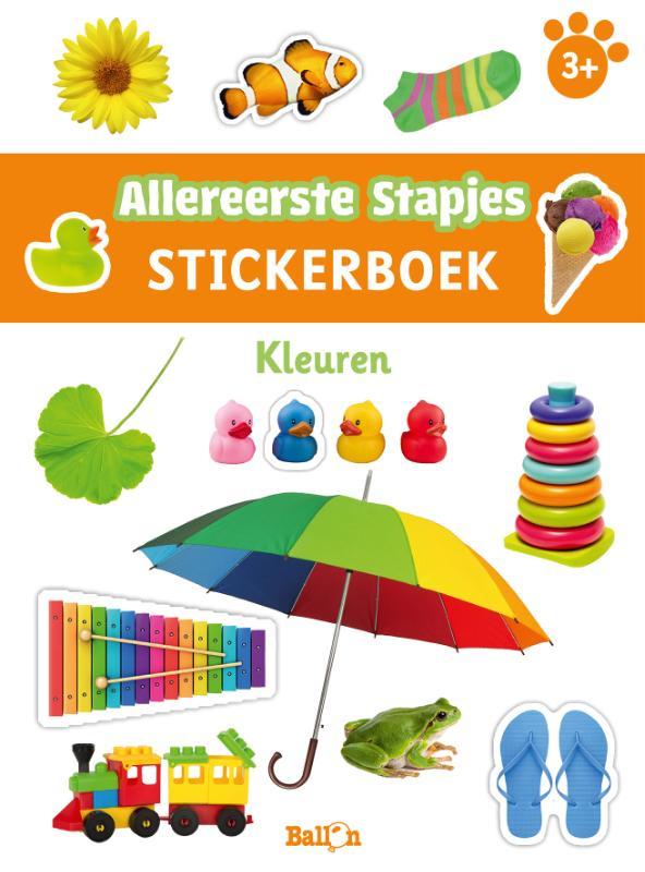 ,Stickerboek kleuren 3+