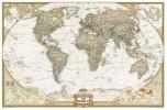 <b>World political antique large flat laminated ENG 1/22,44M</b>,