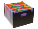 ,Harmonica documenten map Viquel Rainbow Class ® 24 tabs     assorti kleuren