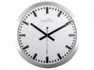 <b>Wandklok Nextime dia. 35 cm, aluminium, wit, `Station`      Radio Controlled (DCF)</b>,