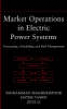 Shahidehpour, Mohammad Market Operations in Electric Power Systems