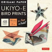 Origami Paper Ukiyoe Bird Prints - Large