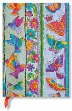 Pb 7247-8 , Paperblanks notitieboek midi blanco playful creations hummingbirds & flutterbyes