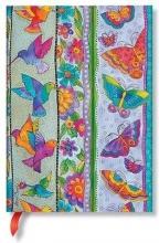 Pb 7247-8 , Paperblanks notitieboek midi blanco playful creations hummingbirds & flutterbyes