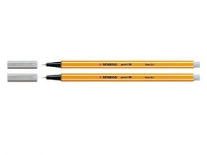 , Fineliner STABILO point 88/94 licht grijs