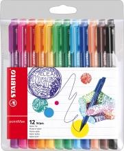 , Viltstift STABILO pointmax 488 etui à 12 kleuren
