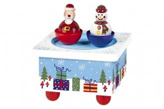 , Houten speeldoos kerst