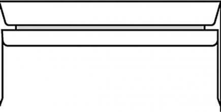 , Envelop bank 114x229mm gegomd wit 500stuks