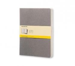 Moleskine Pebble Grey Squared Cahier Extra Large Journal (3