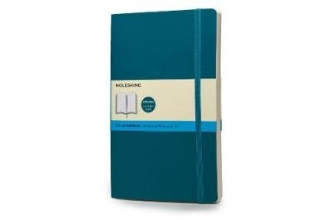 Moleskine Classic Colored Notebook, Large, Dotted, Underwater Blue