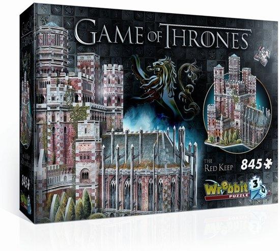 W3d-2017,Puzzel 3d -game of thrones - the red keep - wrebbit - 845stuks