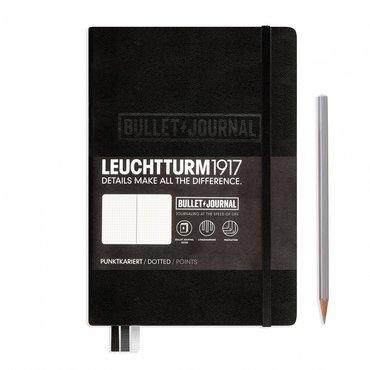 Lt346703,Leuchtturm notitieboek medium bullet journal zwart