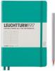 <b>Lt344790</b>,Leuchtturm notitieboek medium 145x210 lijn emerald groen