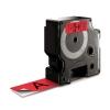 , Labeltape Dymo 53717 D1 720970 24mmx7m zwart op rood