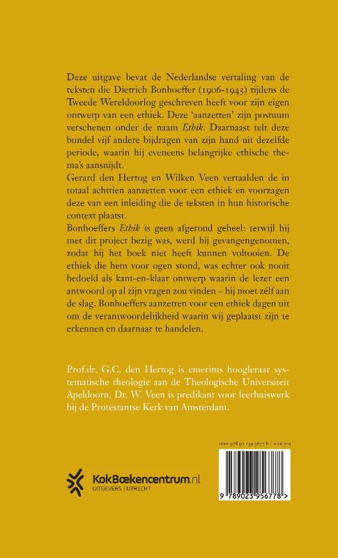 Dietrich Bonhoeffer,Aanzetten voor een ethiek