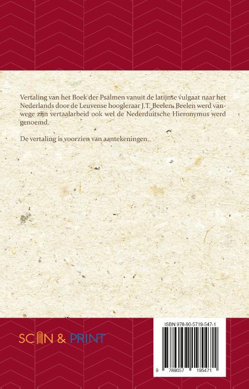 J.T. Beelen,Het Boek der Psalmen 1-75