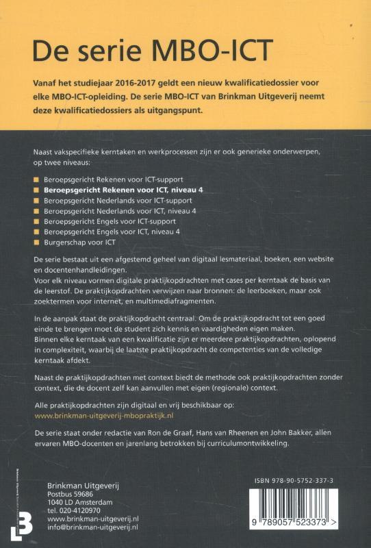Ron de Graaf, Hans van Rheenen,Beroepsgericht rekenen voor ict, niveau 4
